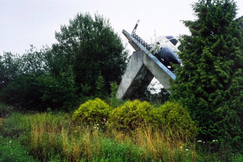 Maquette grandeur nature du projet de navette spatiale européenne Hermès, abandonné, Euro Space Center, Transinne, province de Luxembourg, août 2011