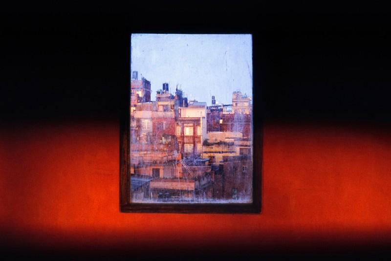 Fenêtre, Thamel, Katmandou, Népal, avril 2008