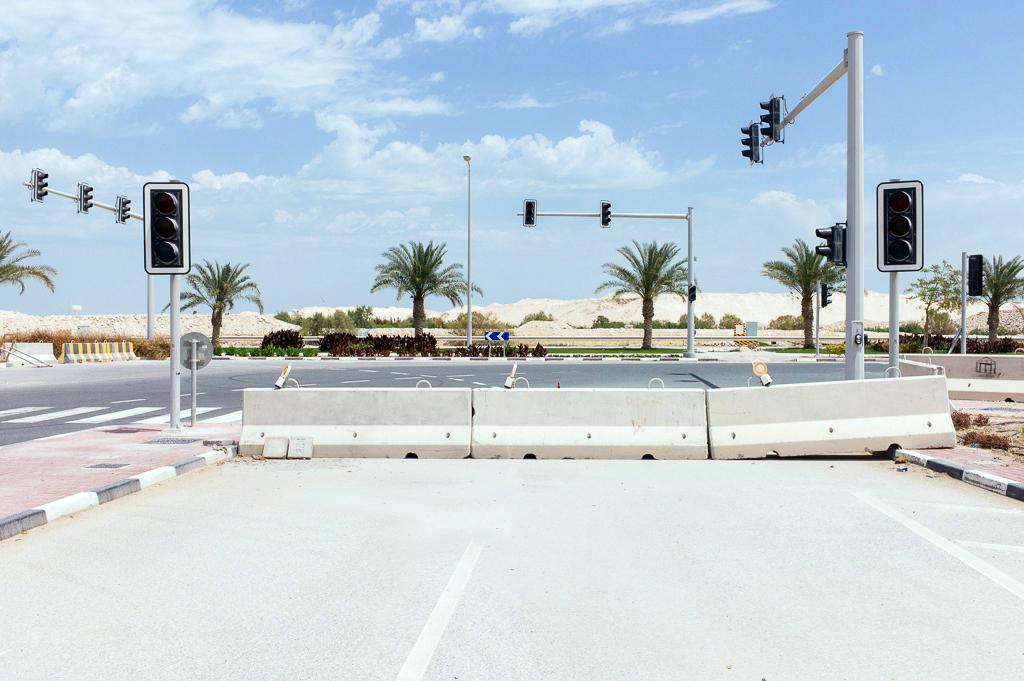 Autour du quartier résidentiel de Barwa City, Doha, Qatar, 7 avril 2016.