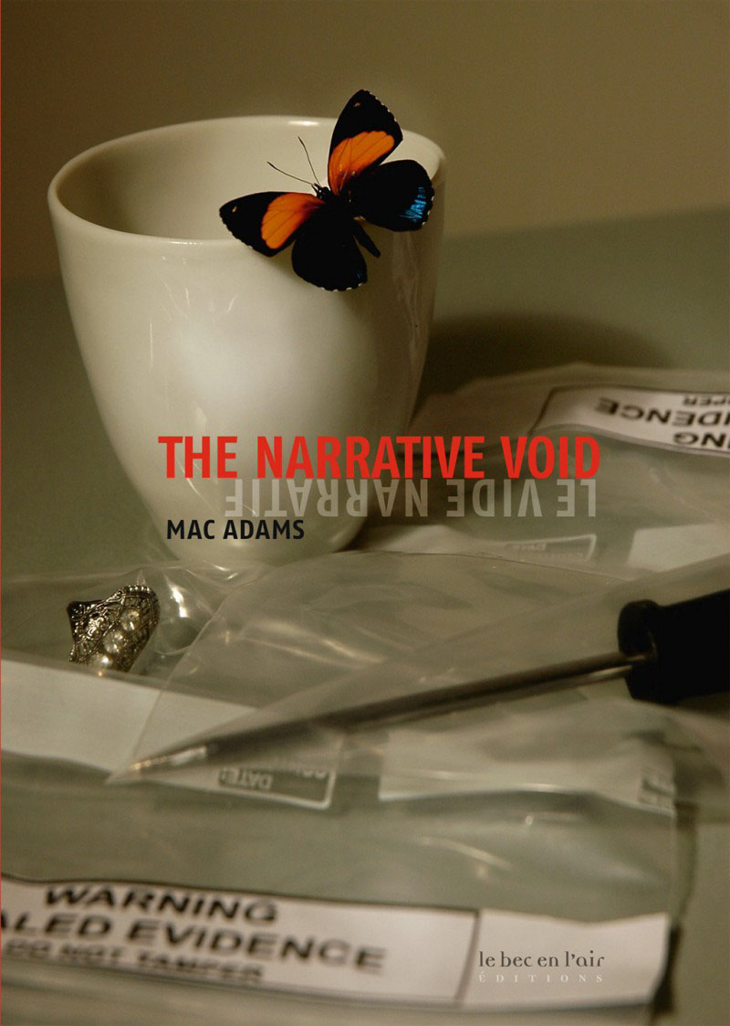 Couverture du livre Le Vide narratif, de Mac Adams