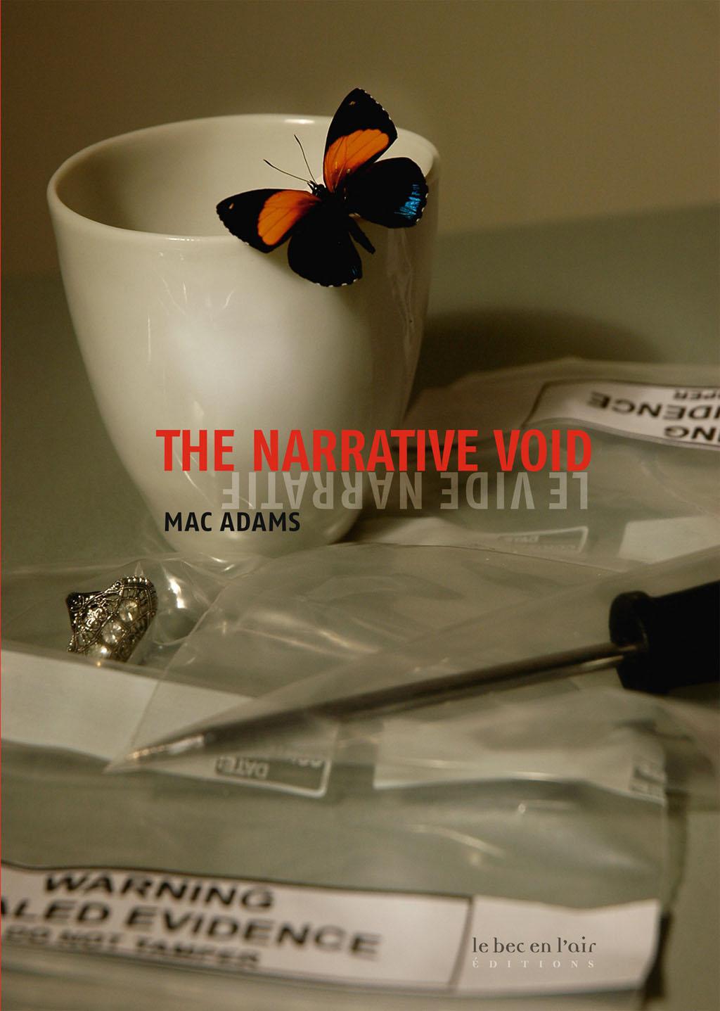 Couverture du livre Le Vide narratif, de Mac Adams