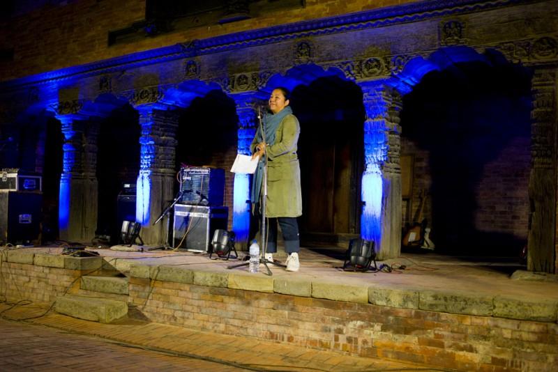 NayanTara Gurung Kakshapati inaugurant la première édition du festival Photo Kathmandu, le 3 novembre 2015